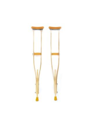 Костыли подмышечные деревянные с мягкими ручками